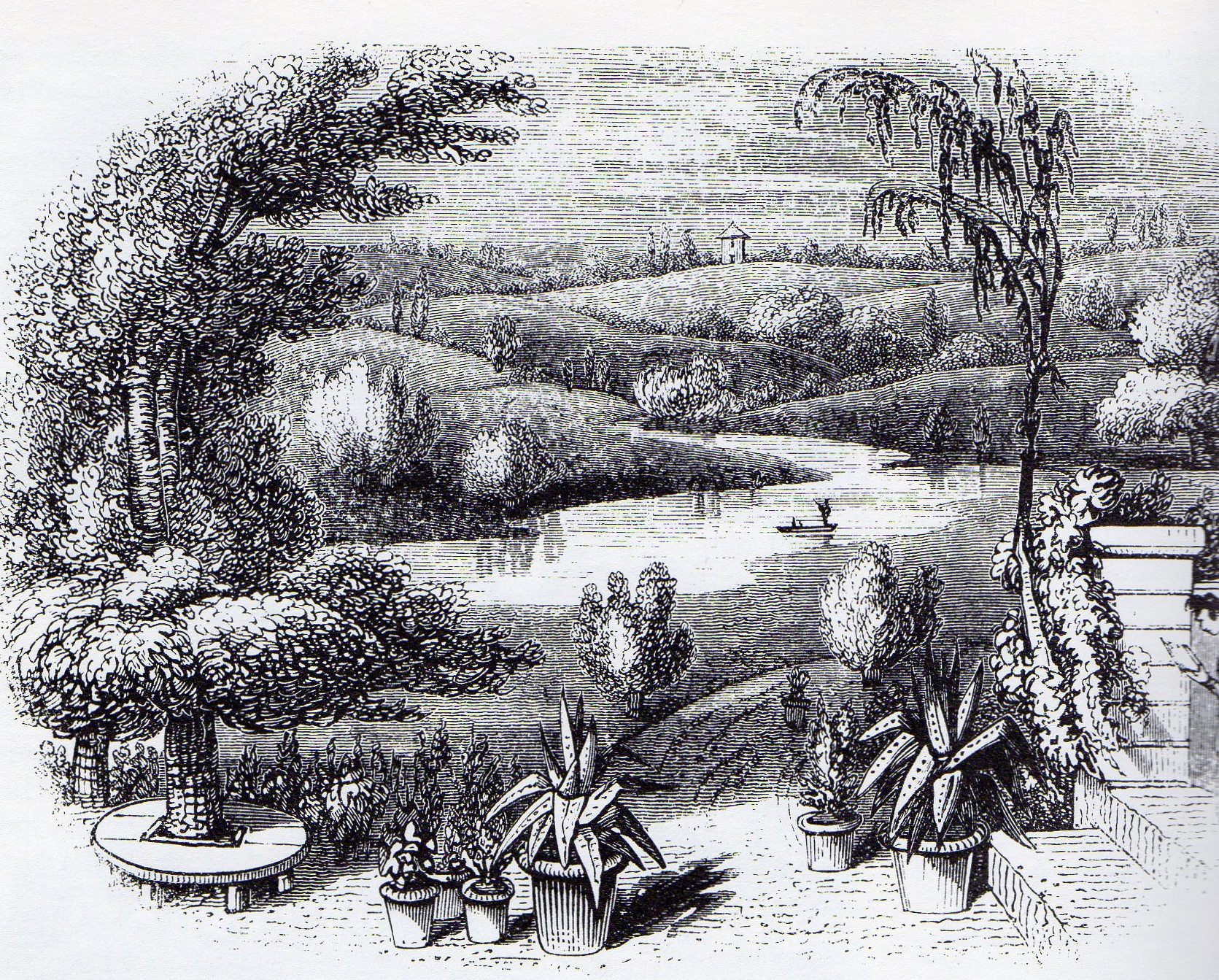 Charles McIntosh preferred the natural landscape garden.