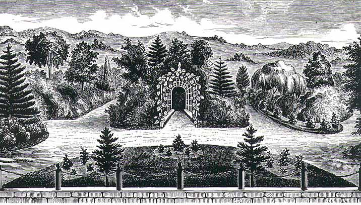 Breck Nurseries in 1850, located in Brighton, Mass.