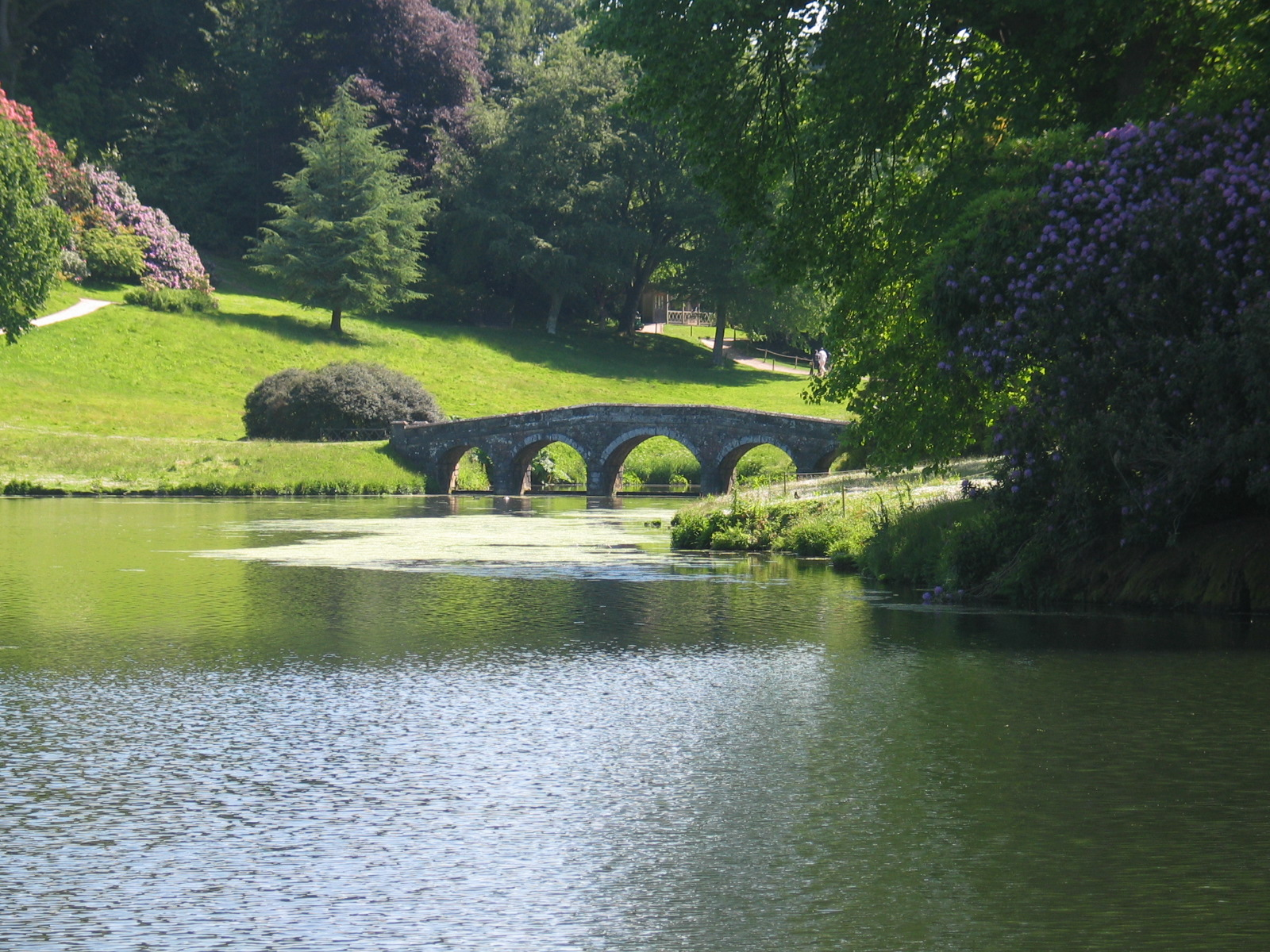 The palladium bridge at Stourhead in England, a classic English garden.