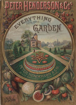 The cover of the 1886 seed catalog of New York's Peter Henderson Company