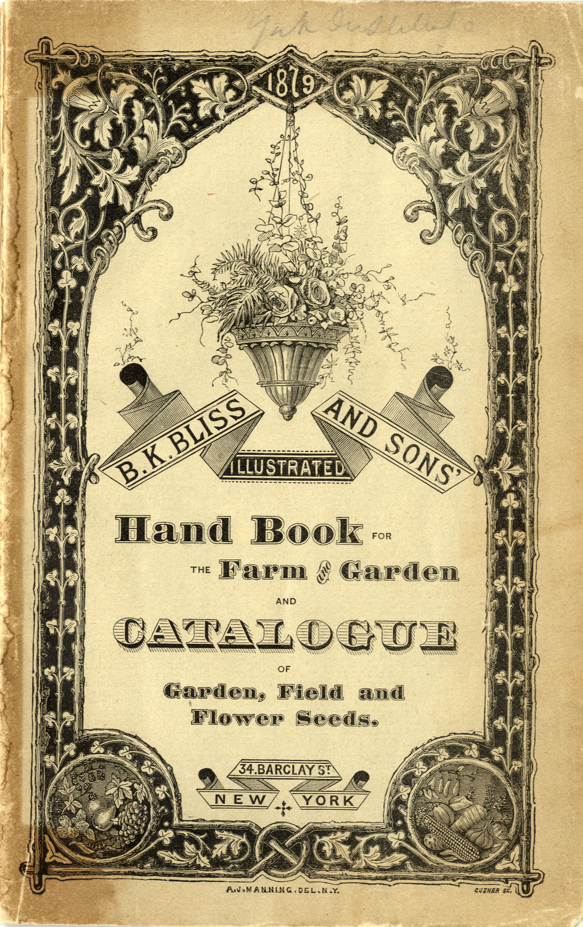 B. K. Bliss catalog cover of 1879